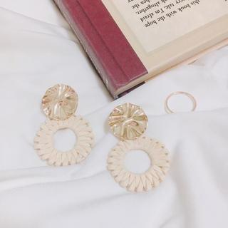 カスタネ(Kastane)のgold plate×suede circle pierce*.(ピアス)