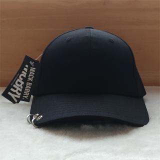 MACK BARRY マクバリー カーブ リング キャップ 帽子 ブラック