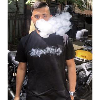 Supreme - Black最安値 Supreme 19FW smoke Tee 黒 mサイズ