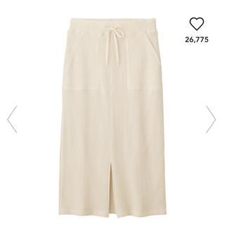 GU - ワッフルドローストリングナロースカート