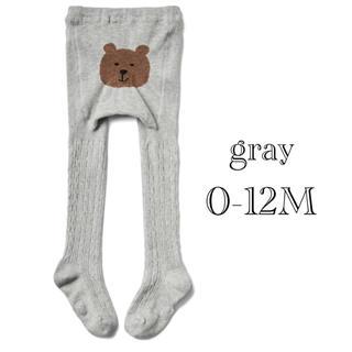 babyGAP - 今期購入品◇size 0-12M❁くまさんタイツ【グレー】