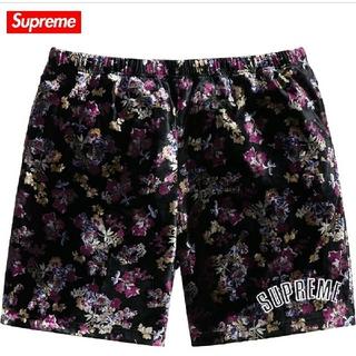 Supreme Floral Velour Short Sサイズ