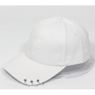 大流行 3連リング キャップ 男女兼用 メンズ レディース 帽子 白