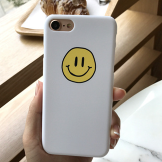 iphone7/8/x/xs ケースカバー 韓国 スマイル