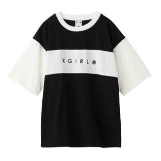 ☺︎期間限定お値下げ☺︎X-girl バイカラー ロゴ Tシャツ