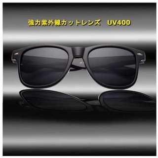 超軽量 偏光レンズ サングラス UV400 メンズサングラス スクエア グレー