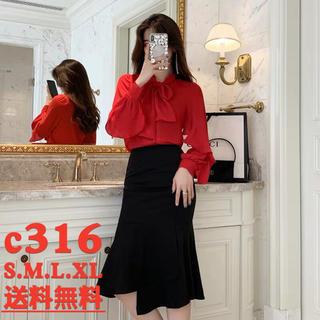 送料無料 2点セット 通勤 正装 シャツ スカート  オフィスレディーc316