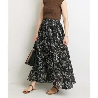 IENA SLOBE - SLOBE IENA ミモザ柄ギャザーロングスカート