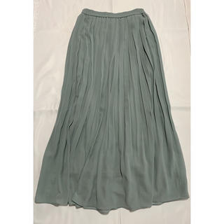 UNIQLO - プリーツスカート ロングスカート 緑 青