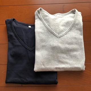 MUJI (無印良品) - 無印良品 ストレッチ 長袖tシャツ 2点セット