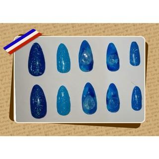ブルー宝石風♡ネイルチップ