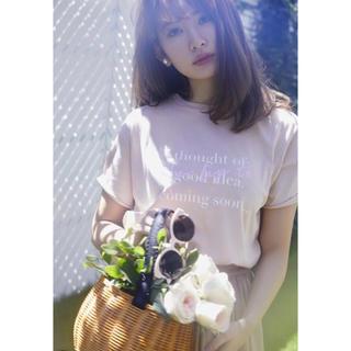 snidel - 【週末限定】her lip to Tシャツ ピンクベージュ