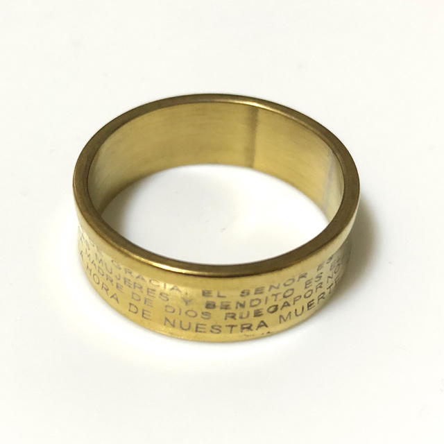 同時購入で300円 ステンレス指輪マリア湾曲タイプ メンズのアクセサリー(リング(指輪))の商品写真