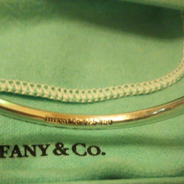 Tiffany & Co.(ティファニー)のティファニー コンビ バングル シルバーk18金コンビ レディースのアクセサリー(ブレスレット/バングル)の商品写真