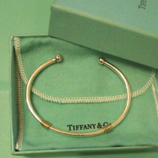 Tiffany & Co. - ティファニー コンビ バングル シルバーk18金コンビ