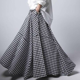 アンティカ(antiqua)の【キナコ様専用】アンティカ チェック ロング スカート(ロングスカート)