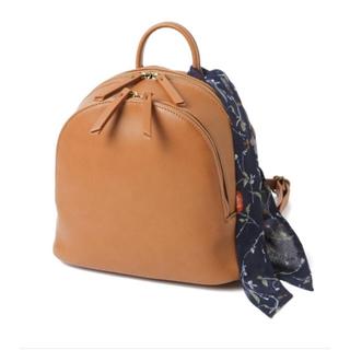 2way フェイクレザースカーフ付きバッグ