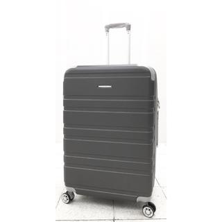 中型軽量スーツケース8輪キャスター TSAロック付き Mキャリーケース グレー