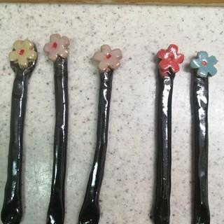 マドラー、お花がついて、可愛い色になりました。