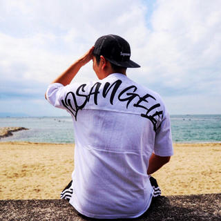 エムエスジイエム(MSGM)の西海岸系☆LUSSO SURF LAオーバーサイズTシャツ Lサイズ wtw(Tシャツ/カットソー(半袖/袖なし))