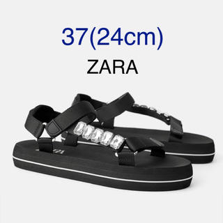 ザラ(ZARA)の【タグ付き新品】ザラ ビジュー付き スポーツ サンダル(サンダル)