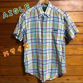 エーグル(AIGLE)のA        AIGLE チェックシャツ メンズ 半袖シャツ(シャツ)