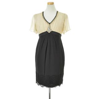 GRACE CONTINENTAL - グレースコンチネンタル ドレス 紺色