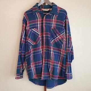フィアオブゴッド(FEAR OF GOD)のBIG MAC vintage flannel shirt (blue/L)(シャツ)