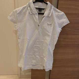 アルマーニエクスチェンジ(ARMANI EXCHANGE)のAX シルバードットデザインポロシャツ(ポロシャツ)