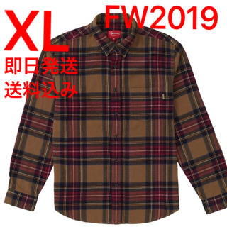 Supreme - XL supreme Tartan Flannel Shirt フランネルシャツ