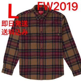 Supreme - L supreme Tartan Flannel Shirt シャツ ①