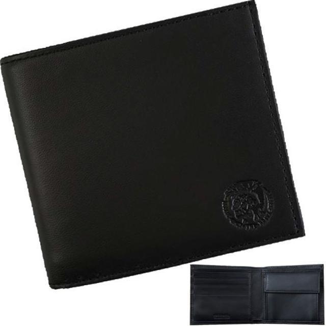 DIESEL - 【新品】 ディーゼル 二つ折り財布 レザー ブラック エンボスロゴの通販 by papi's shop|ディーゼルならラクマ