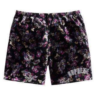 Supreme - Sサイズ Floral Velour Short フローラル ベロア ショーツ