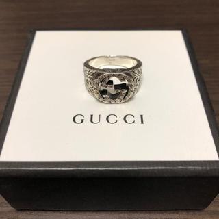 Gucci - gucci ロゴデザイン シルバーリング