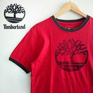 Timberland - 684 ティンバーランド ビッグロゴ リンガー Tシャツ Timberland