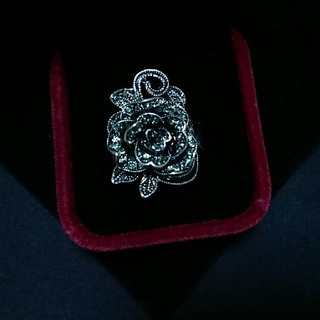 ♥大幅値下げ中♥新品♥定価¥4800円・豪華・黒薔薇のリング♥(リング(指輪))