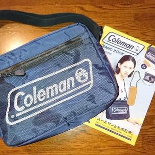 Coleman - Colemanメッシュポケットショルダーバッグ紺
