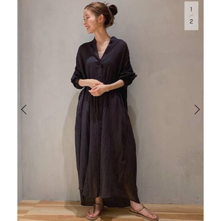 Plage - 新品タグ付き plage lawn band collarシャツワンピース
