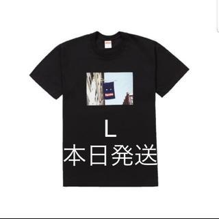 シュプリーム(Supreme)のサイズL supreme 黒 Black バナー tシャツ 値下げ不可(Tシャツ/カットソー(半袖/袖なし))