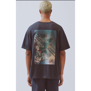 FEAR OF GOD - L FOG essentials 19aw Jarvis photo Tシャツ