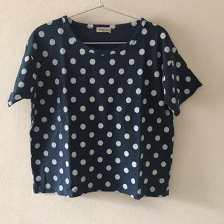 SM2 - Samansa Mos2 ドットプリントTシャツ