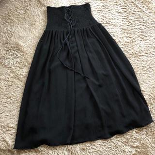 フレイアイディー(FRAY I.D)の今季ウエストレースアップシャーリングスカート美品(ロングスカート)