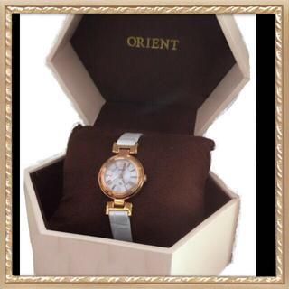 オリエント(ORIENT)の【美品値下げ】レディース腕時計 ホワイト(腕時計)