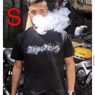 Supreme - supreme smoke TEE 黒 S