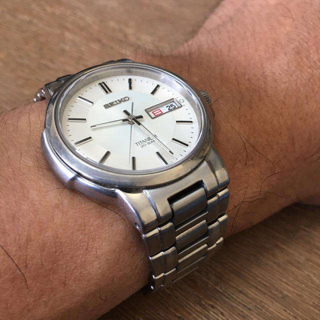シャネル バッグ 名品 / SEIKO - セイコー クォーツ式腕時計 SCDC055  チタニウム製の通販 by ダッフィ's shop|セイコーならラクマ