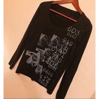 ムルーア(MURUA)のMURUA ムルーア コカコーラコラボ ロングTシャツ 長袖00 美品 ブラック(Tシャツ(長袖/七分))