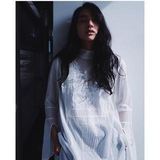 マメ(mame)のmame 16aw  White Blouse(シャツ/ブラウス(長袖/七分))