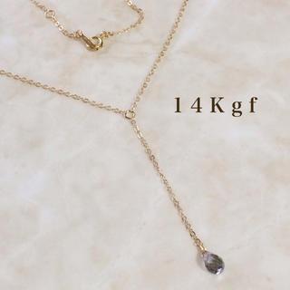 DEUXIEME CLASSE - 14Kgf/K14gf グレートパーズYラインネックレス 天然石ネックレス