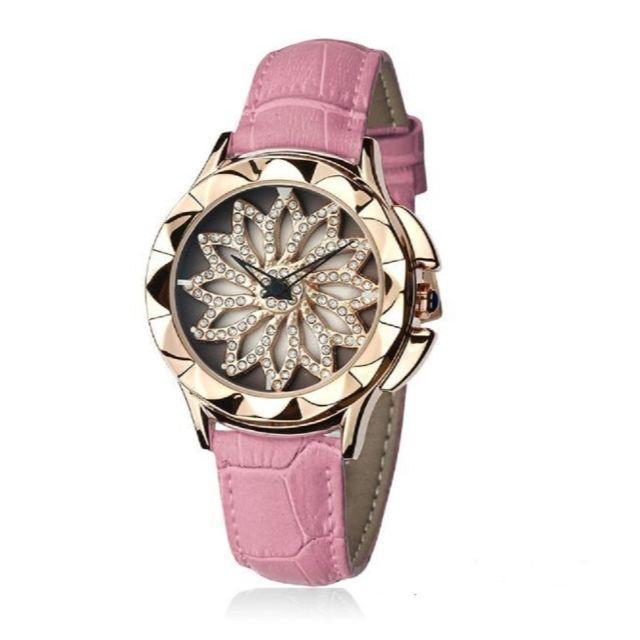 エルメス 財布 キーケース - ぐるぐる時計 グルグル 文字盤が回る ラグジュアリー レザー 腕時計 ピンクの通販 by gra i's shop9/4-11発送お休みとなります。|ラクマ