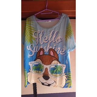 デイシー(deicy)のチップ ビーチ柄🏖️Tシャツ(Tシャツ(半袖/袖なし))